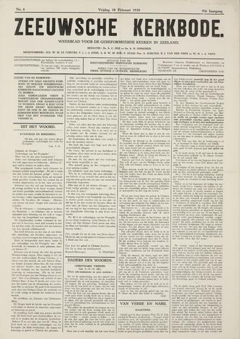 Zeeuwsche kerkbode, weekblad gewijd aan de belangen der gereformeerde kerken/ Zeeuwsch kerkblad 1939-02-10