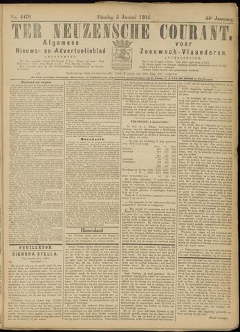 Ter Neuzensche Courant. Algemeen Nieuws- en Advertentieblad voor Zeeuwsch-Vlaanderen / Neuzensche Courant ... (idem) / (Algemeen) nieuws en advertentieblad voor Zeeuwsch-Vlaanderen 1904-01-05