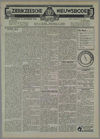 Zierikzeesche Nieuwsbode 1936-11-18