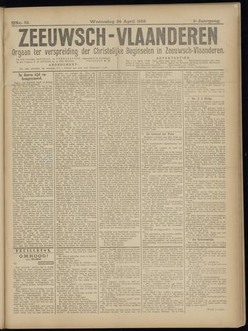 Luctor et Emergo. Antirevolutionair nieuws- en advertentieblad voor Zeeland / Zeeuwsch-Vlaanderen. Orgaan ter verspreiding van de christelijke beginselen in Zeeuwsch-Vlaanderen 1918-04-24
