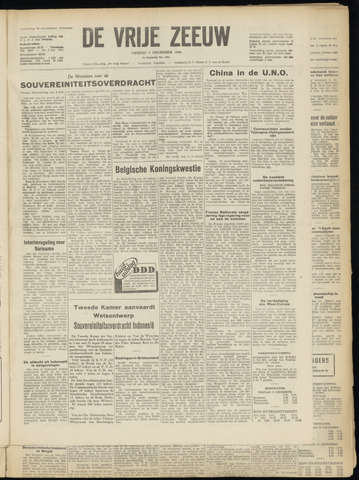 de Vrije Zeeuw 1949-12-09