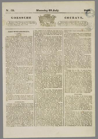 Goessche Courant 1849-07-23