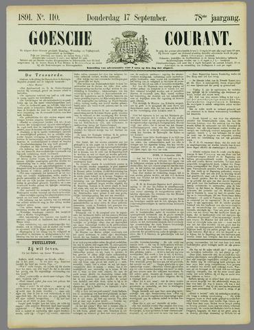 Goessche Courant 1891-09-17