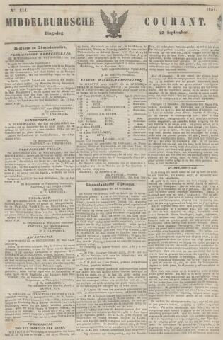 Middelburgsche Courant 1851-09-23