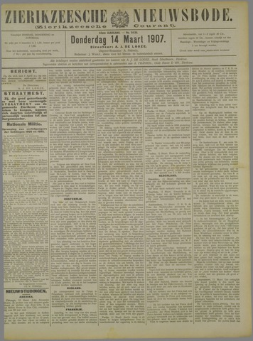 Zierikzeesche Nieuwsbode 1907-03-14