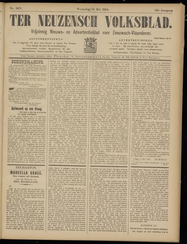 Ter Neuzensch Volksblad. Vrijzinnig nieuws- en advertentieblad voor Zeeuwsch- Vlaanderen / Zeeuwsch Nieuwsblad. Nieuws- en advertentieblad voor Zeeland 1914-05-13