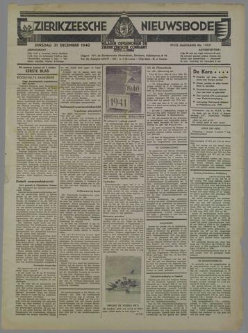 Zierikzeesche Nieuwsbode 1940-12-31