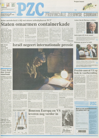 Provinciale Zeeuwse Courant 2002-09-24
