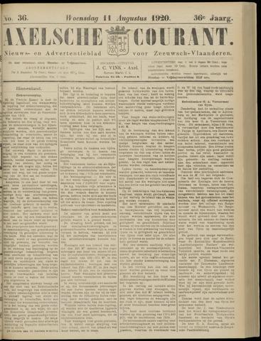 Axelsche Courant 1920-08-11