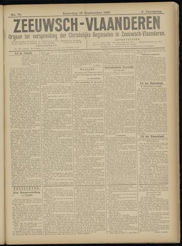 Luctor et Emergo. Antirevolutionair nieuws- en advertentieblad voor Zeeland / Zeeuwsch-Vlaanderen. Orgaan ter verspreiding van de christelijke beginselen in Zeeuwsch-Vlaanderen 1918-09-28