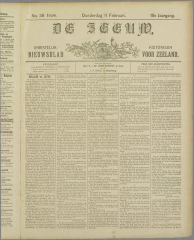 De Zeeuw. Christelijk-historisch nieuwsblad voor Zeeland 1904-02-11