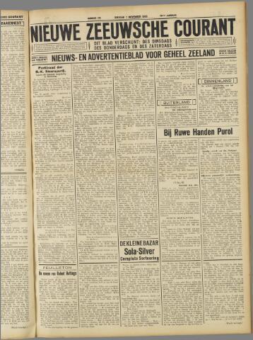 Nieuwe Zeeuwsche Courant 1933-11-07