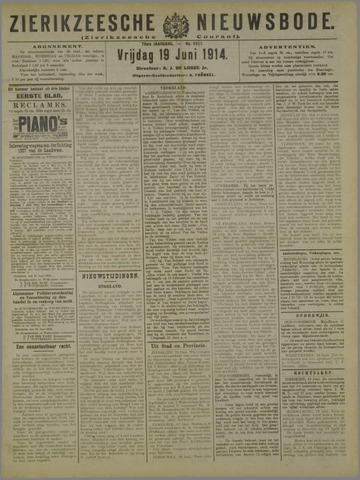 Zierikzeesche Nieuwsbode 1914-06-19