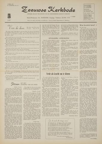 Zeeuwsche kerkbode, weekblad gewijd aan de belangen der gereformeerde kerken/ Zeeuwsch kerkblad 1970-04-09