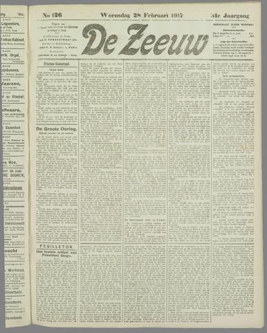 De Zeeuw. Christelijk-historisch nieuwsblad voor Zeeland 1917-02-28