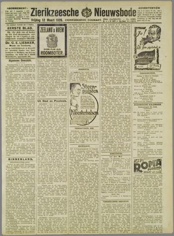 Zierikzeesche Nieuwsbode 1926-03-12