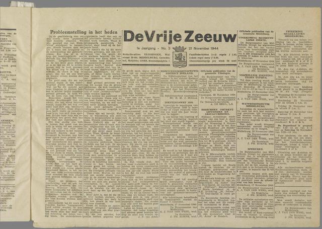 de Vrije Zeeuw 1944-11-21