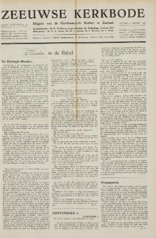 Zeeuwsche kerkbode, weekblad gewijd aan de belangen der gereformeerde kerken/ Zeeuwsch kerkblad 1949-03-04