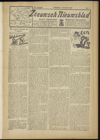 Zeeuwsch Nieuwsblad/Wegeling's Nieuwsblad 1935-01-04