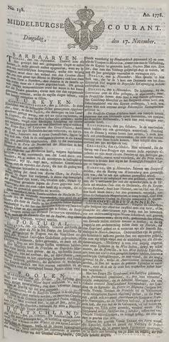 Middelburgsche Courant 1778-11-17