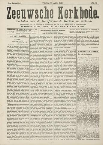 Zeeuwsche kerkbode, weekblad gewijd aan de belangen der gereformeerde kerken/ Zeeuwsch kerkblad 1920-04-30