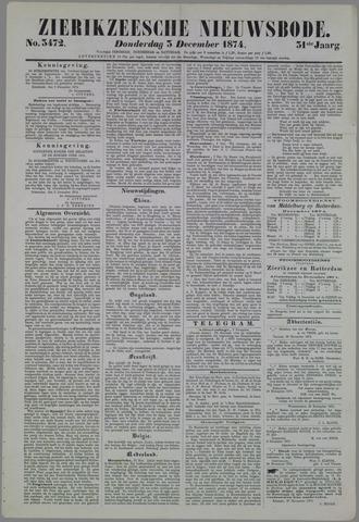 Zierikzeesche Nieuwsbode 1874-12-03