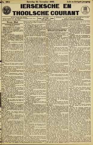 Ierseksche en Thoolsche Courant 1922-11-25