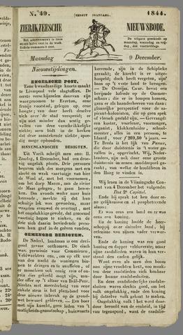 Zierikzeesche Nieuwsbode 1844-12-09