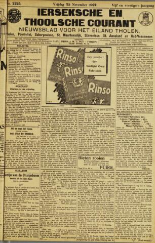 Ierseksche en Thoolsche Courant 1927-11-25