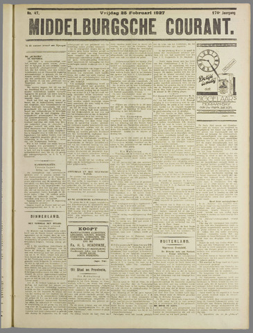 Middelburgsche Courant 1927-02-25