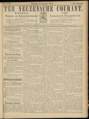 Ter Neuzensche Courant. Algemeen Nieuws- en Advertentieblad voor Zeeuwsch-Vlaanderen / Neuzensche Courant ... (idem) / (Algemeen) nieuws en advertentieblad voor Zeeuwsch-Vlaanderen 1911-08-12