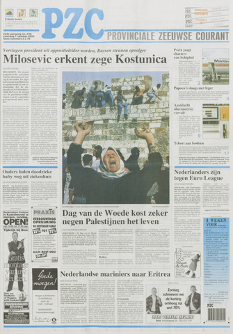 Provinciale Zeeuwse Courant 2000-10-07