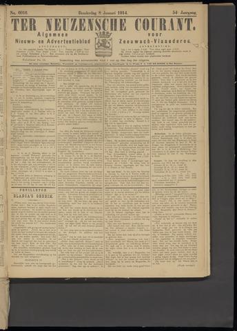 Ter Neuzensche Courant. Algemeen Nieuws- en Advertentieblad voor Zeeuwsch-Vlaanderen / Neuzensche Courant ... (idem) / (Algemeen) nieuws en advertentieblad voor Zeeuwsch-Vlaanderen 1914-01-08
