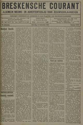 Breskensche Courant 1922-09-30