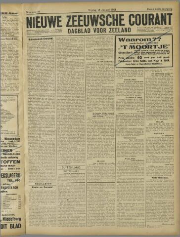 Nieuwe Zeeuwsche Courant 1921-01-21