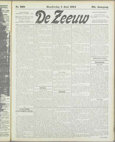 De Zeeuw. Christelijk-historisch nieuwsblad voor Zeeland 1924-06-05