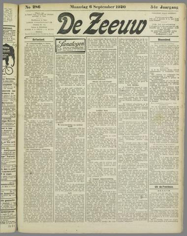De Zeeuw. Christelijk-historisch nieuwsblad voor Zeeland 1920-09-06