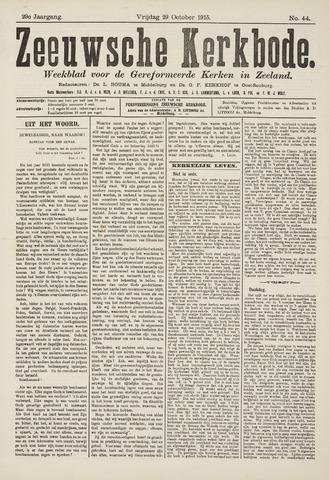 Zeeuwsche kerkbode, weekblad gewijd aan de belangen der gereformeerde kerken/ Zeeuwsch kerkblad 1915-10-29