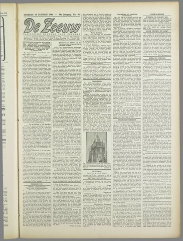 De Zeeuw. Christelijk-historisch nieuwsblad voor Zeeland 1944-01-18