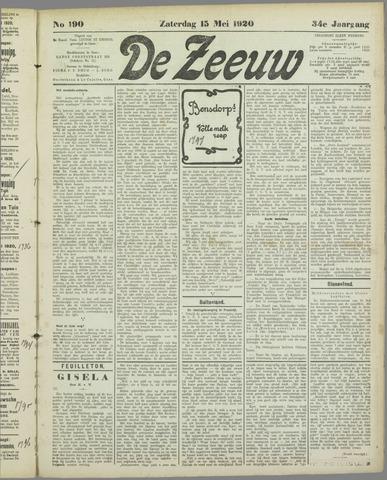 De Zeeuw. Christelijk-historisch nieuwsblad voor Zeeland 1920-05-15