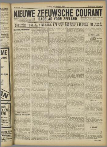 Nieuwe Zeeuwsche Courant 1922-10-10