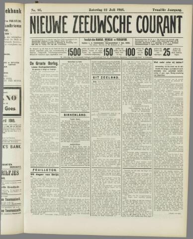 Nieuwe Zeeuwsche Courant 1916-07-22