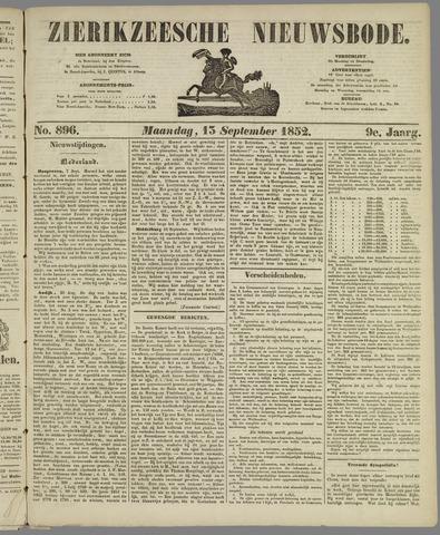 Zierikzeesche Nieuwsbode 1852-09-13