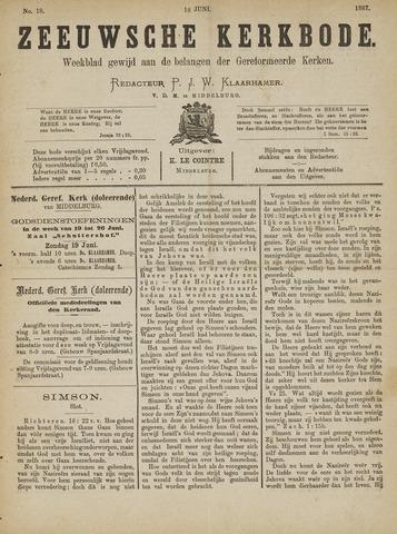 Zeeuwsche kerkbode, weekblad gewijd aan de belangen der gereformeerde kerken/ Zeeuwsch kerkblad 1887-06-18