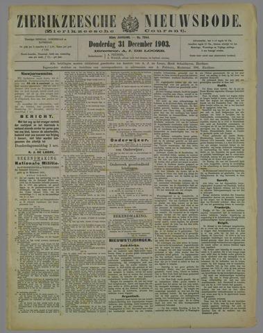 Zierikzeesche Nieuwsbode 1903-12-31