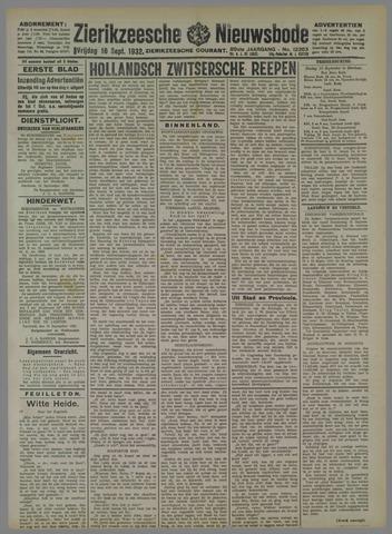 Zierikzeesche Nieuwsbode 1932-09-16