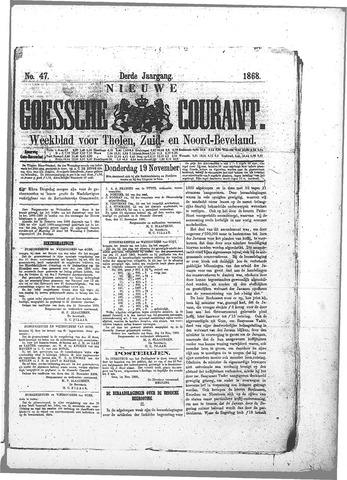 Nieuwe Goessche Courant 1868-11-19