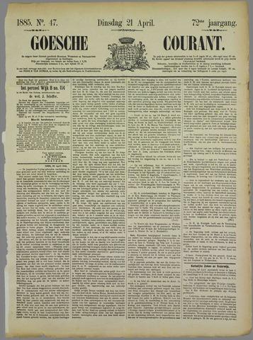 Goessche Courant 1885-04-21