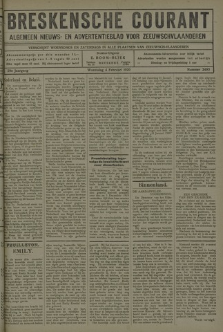 Breskensche Courant 1920-02-04