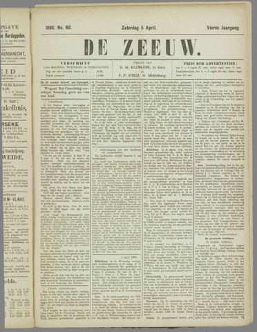 De Zeeuw. Christelijk-historisch nieuwsblad voor Zeeland 1890-04-05